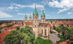 UNESCO World Heritage Site Naumburg Cathedral - Aerial view
