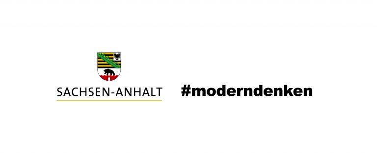 Promotional logo modern thinking Saxony-Anhalt